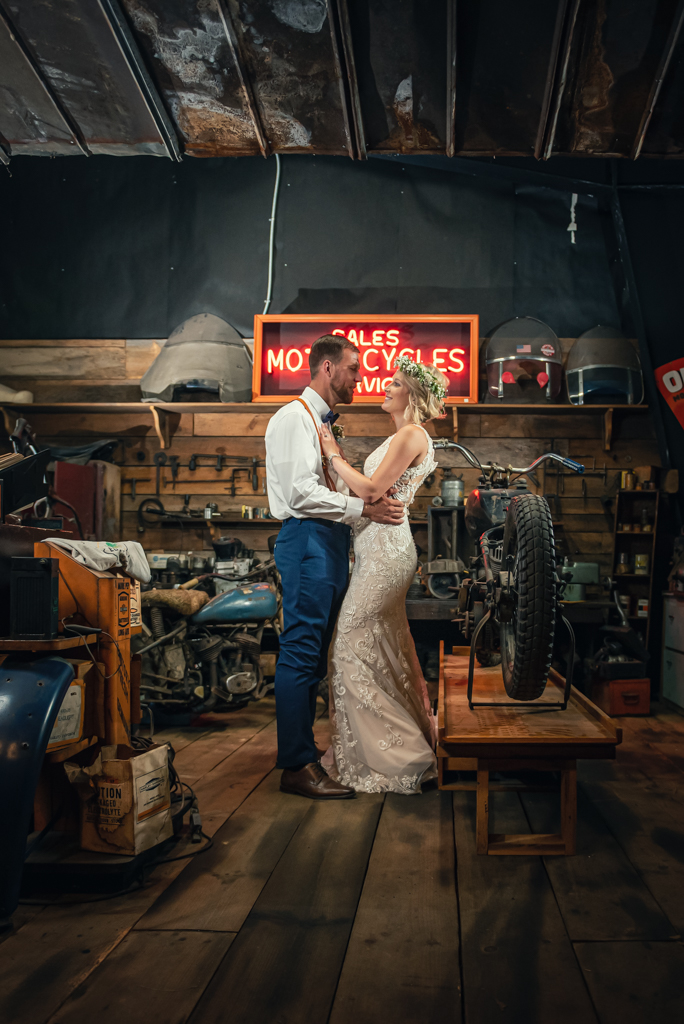 Motorcycle Themed Wedding