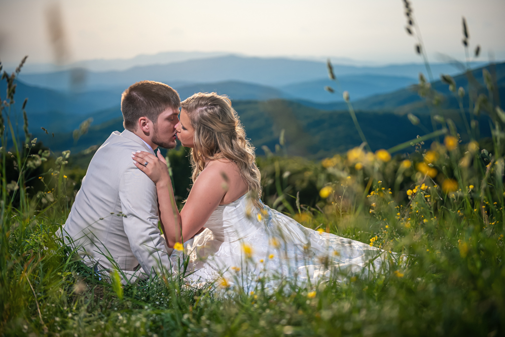 Blue Ridge Mountain Top Wedding Photography