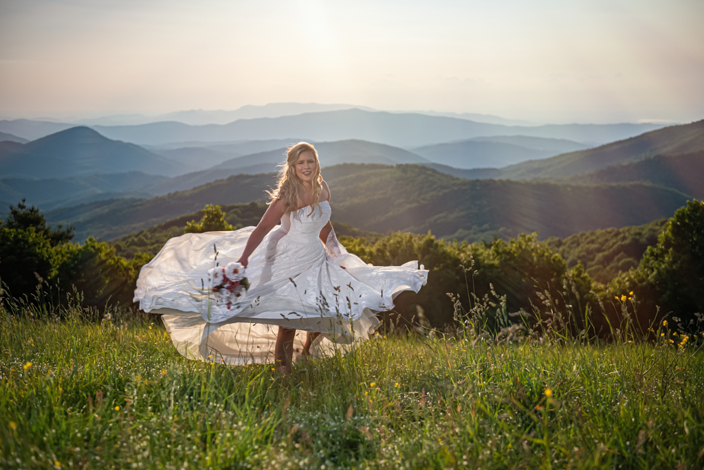 Bride Dancing on a Mountain Range